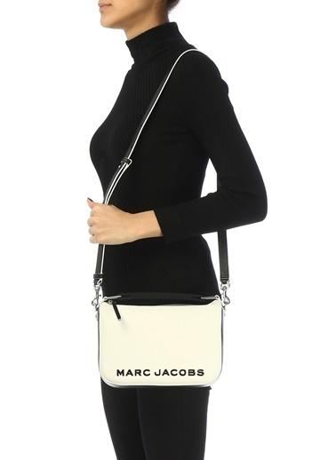 Marc Jacobs Marc Jacobs  Logolu Kadın Deri Omuz Çantası 101620427 Siyah